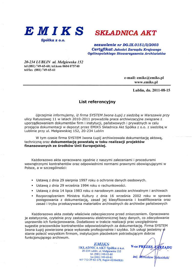 EMIKS Składnica Akt