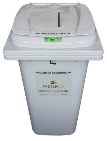 Pojemnik plastikowy na makulaturę i dokumentację roboczą o pojemności 240 litrów