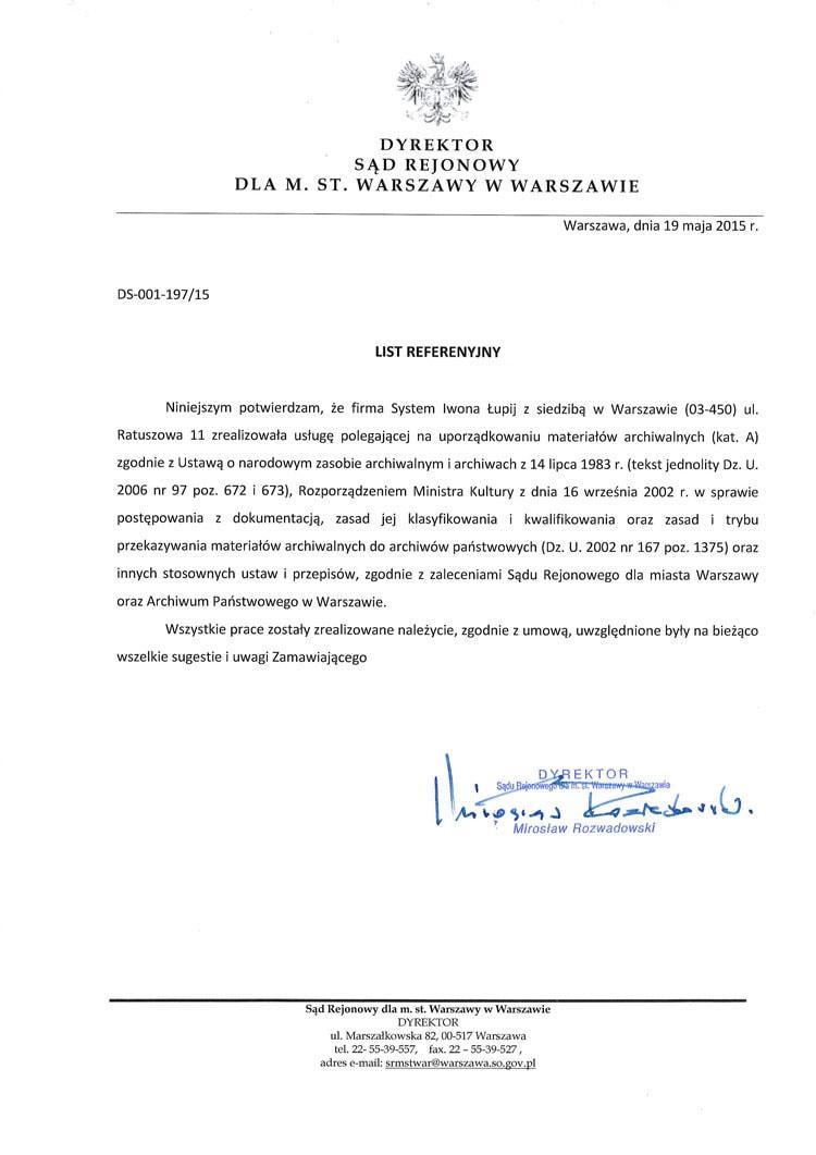 Sad Rejonowy dla M.St Warszawy